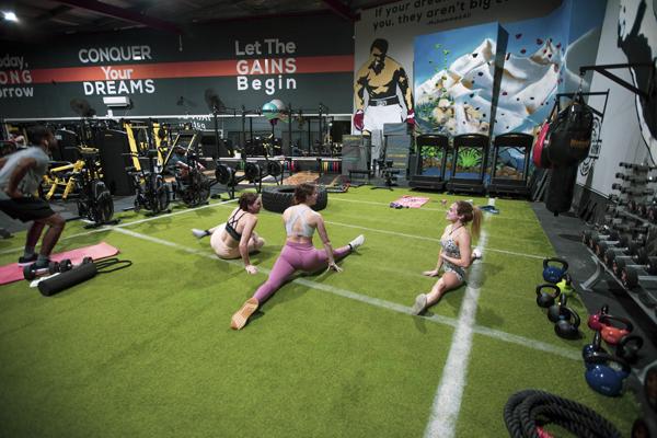 Iron Gym Platinum members using the functional floor area
